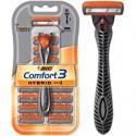 Deals List: BIC Comfort 3 Hybrid Men's 3-Blade Disposable Razor, 1 Handle and 12 Cartridges