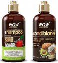 Deals List: WOW Apple Cider Vinegar Shampoo & Hair Conditioner Set - (2 x 16.9 Fl Oz / 500mL) - Increase Gloss, Hydration, Shine - Reduce Itchy Scalp, Dandruff & Frizz - No Parabens or Sulfates - All Hair Types
