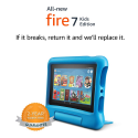 "Deals List: Fire 7 Kids Edition Tablet, 7"" Display, 16 GB, Blue Kid-Proof Case"
