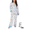 Deals List: Munki Munki Ladies Flannel PJ Set with Sock