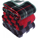 "Deals List: Better Homes & Gardens Sherpa Throw Blanket, 50"" x 60"", Red Plaid"
