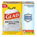 Deals List: Glad OdorShield Tall Kitchen Drawstring Trash Bags - Unscented - 13 Gallon - 90 Count