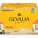Deals List: Gevalia Colombian Medium Roast Coffee Keurig K Cup Pods 100 Ct