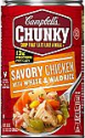 Deals List: Campbell's Chunky Savory Chicken with White & Wild Rice Soup, 18.8 oz Can (Pack of 12)