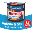 Deals List: Nutella and Go Snack Packs, Chocolate Hazelnut Spread with Pretzel Sticks, 1.9 Ounce,12 Count