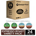 Deals List: Keurig Espresso Roast Variety Sampler Pack, Single-Serve Coffee K-Cup Pods, Variety, 24 Count