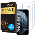 Deals List: Ailun for Apple iPhone 11 Pro Max/iPhone Xs Max Screen Protector 3 Pack 6.5 Inch 2019/2018 Release Tempered Glass 0.33mm Anti Scratch Advanced HD Clarity Work with Most Case