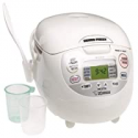 Deals List: Zojirushi NS-ZCC10 5-1/2-Cup (Uncooked) Neuro Fuzzy Rice Cooker and Warmer, Premium White, 1.0-Liter