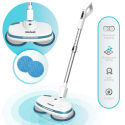 Deals List: Gladwell Cordless Electric Mop - 3 in 1 Spinner, Scrubber, Waxer Quiet, Powerful Cleaner Spin Scrubber & Buffer, Polisher for Hard Wood, Tile, Vinyl, Marble, Laminate Floor - Blue