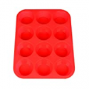 Deals List: Silicone Muffin Pan, Silicone Muffin Tin for Cupcake Baking Cups Non Stick, 12 Cups Silicone Molds(Red)