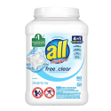 Deals List: All Mighty Pacs Laundry Detergent Free Clear for Sensitive Skin, Tub, 60 Count