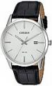 Deals List: Citizen Men's Quartz Stainless Steel and Leather Casual Watch, Color:Black (Model: BI5000-01A)