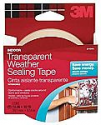 Deals List: 3M Interior Transparent Weather Sealing Tape, 1.5-Inch by 10-Yard