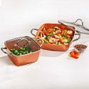 """Deals List: Copper Chef 4-Piece Deep Casserole Pan Set (8"""", 12"""")"""