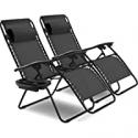 Deals List: Goplus 2PC Zero Gravity Chairs Lounge Patio Folding Recliner