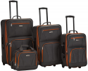 Deals List: Rockland Journey Softside Upright Luggage Set, Charcoal