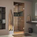 Deals List: DreamLine Unidoor Lux 34 in. x 72 in. Frameless Hinged Shower Door in Brushed Nickel