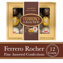 Deals List: Ferrero Rocher Fine Hazelnut Milk Chocolate and Coconut Confections, 48 Count, Assorted Chocolate Candy Collection Gift Box