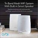 Deals List: NETGEAR Orbi Voice Whole Home Mesh WiFi System - fastest WiFi router and satellite extender with Amazon Alexa and Harman Kardon speaker built in, AC3000 (RBK50V)