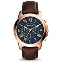 Deals List: Fossil Mens Grant Chronograph FS5068 Brown Leather Watch 44mm