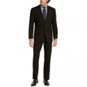Deals List: Marc New York by Andrew Marc Mens Modern-Fit Solid Black Suit