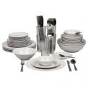 Deals List: 10 Strawberry Street Nova White Round 62-Piece Dinnerware Set