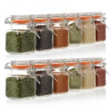 Deals List: 24 Pack Mini Square Glass Spice Jar w/Gasket 3.4oz