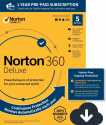 Deals List: Norton 360 Deluxe – Antivirus software for 5 Devices with Auto Renewal - Includes VPN, PC Cloud Backup & Dark Web Monitoring powered by LifeLock - 2020 Ready [Download]