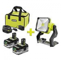 Deals List: RYOBI 18-Volt ONE+ LITHIUM+ HP 3.0 Ah Battery (2-Pack) Starter Kit + Charger + Bag + Free ONE+ 20-Watt LED Work Light