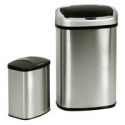 Deals List: Set of 2 Touch-Free Motion Sensor Bins Trash Cans