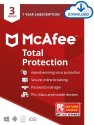 Deals List: McAfee Total Protection, 3 Device, Antivirus Software, Internet Security, 1 Year Subscription - 2020 Ready [Download Code]