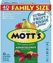 Deals List: Mott's Fruit Snacks, Assorted Fruit Gluten Free Snacks, Family Size, 40 Count per pack, 32 Ounce