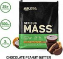 Deals List: OPTIMUM NUTRITION Serious Mass Weight Gainer Protein Powder, Vitamin C, Zinc and Vitamin D for Immune Support, Chocolate Peanut Butter, 12 Pound