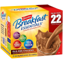 Deals List: Carnation Breakfast Essentials Powder Drink Mix, Rich Milk Chocolate, Box of 22 Packets