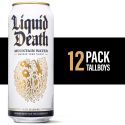 Deals List: Liquid Death Mountain Water, 16.9 oz. Tallboys (12-Pack)