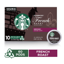 Deals List: Starbucks Dark Roast K-Cup Coffee Pods — French Roast for Keurig Brewers — 6 boxes (60 pods total)
