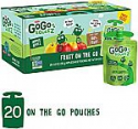 Deals List: 20 Pouches GoGo squeeZ Applesauce on the Go, Apple Apple (3.2 oz)