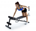 Deals List: Weider XR 5.9 Adjustable Slant Workout Bench with 4-Roll Leg Lockdown and Exercise Chart