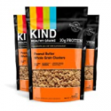 Deals List: KIND Healthy Grains Clusters, Peanut Butter Whole Grain Granola, 10g Protein, Gluten Free, 11 Ounce Bags, 3 Count