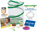 Deals List: Insect Lore Butterfly Garden: Original Habitat and Live Cup of Caterpillars with STEM Butterfly Journal – Life Science & STEM Education – Butterfly Kit