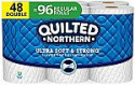 Deals List: Quilted Northern Ultra Soft and Strong Toilet Paper, Double Rolls, 48 Count of 164 2-Ply Sheets Per Roll