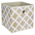 Deals List: Realspace Storage Cube 12-inx 12-inx 12-in Metallic Gold Print