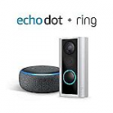 Deals List: Ring Peephole Cam with Echo Dot (3rd Gen) - Charcoal