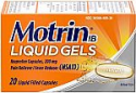 Deals List: Motrin IB Liquid Gels, Ibuprofen 200mg, Fever, Muscle Aches, Headache & Back Pain Relief, 20 ct.