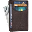 Deals List: Minimalist Wallets for RFID Front Pocket Leather Card Holder Wallet