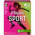 Deals List: Playtex Sport Tampons with Flex-Fit Technology, Super, Unscented - 18 Count