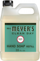 Deals List: Mrs. Meyer's Clean Day Liquid Hand Soap Refill, Cruelty Free and Biodegradable Formula, Basil Scent, 33 oz