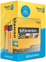 Deals List: Learn Spanish and Unlimited Languages with Lifetime Access: Rosetta Stone Bonus Pack Bundle with Grammar Book and Dictionary