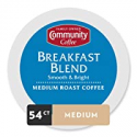 Deals List: Community Coffee Breakfast Blend Medium Roast Single Serve K-Cup Compatible Coffee Pods, Box of 54 Pods