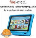 """Deals List: Fire HD 10 Kids Edition Tablet – 10.1"""" 1080p full HD display, 32 GB, Blue Kid-Proof Case"""